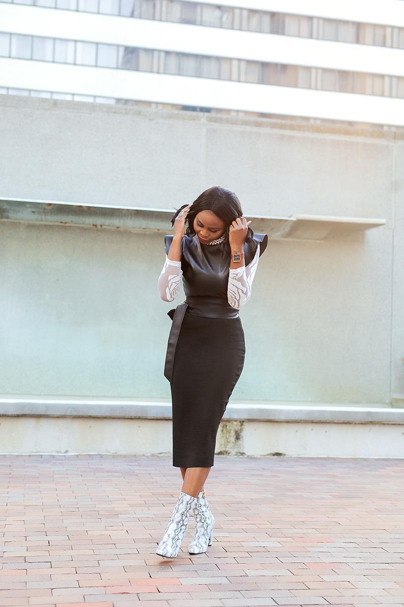 Woman in her beautiful dress